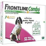 FRONTLINE Combo Anti-parasitaire Puce et Tique pour Grand Chien de 20-40 kg- 4 Pipettes