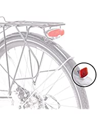 Schutzblech Reflektor Rück Strahler Heck Katzenauge Fahrrad Sicherheit ROT