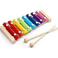 Hosaire 1X Juguetes Xilófono Instrumentos de Madera 8 Tonos Juega bebé de los niños niños Sabiduría Desarrollo de Instrumentos de Madera