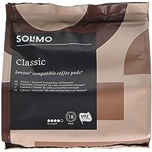Marchio Amazon- Solimo Cialde Classic, compatibili con Senseo* - caffè certificato UTZ, 90 cialde (5x18 )