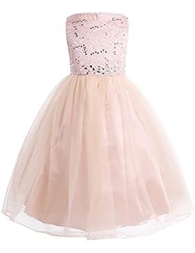 CHICTRY Kinder Mädchen Kleid festlich Lange Brautjungfern Kleider Hochzeit Blumenmädchenkleid Prinzessin Party...