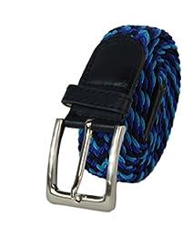 Glamexx24 Cinturón elástico de tela unisex Cinturón elástico trenzado  Cinturón elástico para mujeres y hombres bde8956a56d7