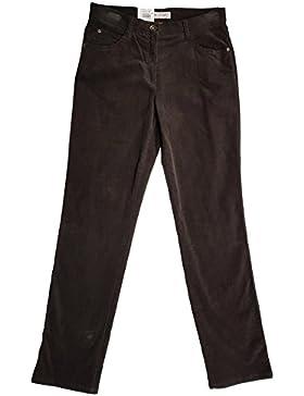 Brax Damen Cordhose Carola Soft Cord 79-1238/52 Slim Fit Gr. 48 (W38 L32) dunkelbraun