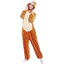 Lenfesh Animal Entero Pijamas Invierno Unisex Para Adultos con Capucha Ropa de Dormir Traje de Disfraz Momo Para Festival de Carnaval Halloween Navidad