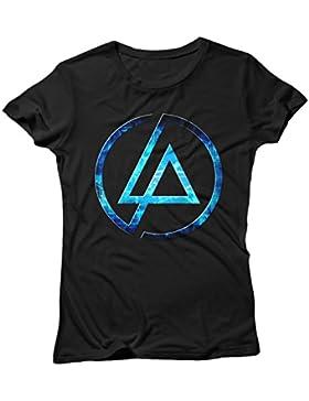 Camiseta Mujer Linkin Park Futuristic Logo - Camiseta 100% algodòn LaMAGLIERIA