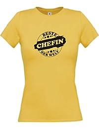 ShirtInStyle Lady-Shirt Beste CHEFIN der Welt, StampStyle viele Farben, Größen XS-XL