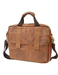 Bags4Less AtWork Bolso de bandolera / Bolso bandolera / Bolso de mano de real suave Cuero (38cm X 32cm X 10cm) Bolsa de ordenador portátil / Bolso para ordenador portátil