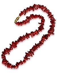 Koralle Halskette, natürlich, rot, Klumpen, 8-13mm