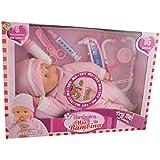 Dimian - Bambolina Mia Bambina, muñeca bebé, color rosa y blanco (Claudio Reig BD1308)