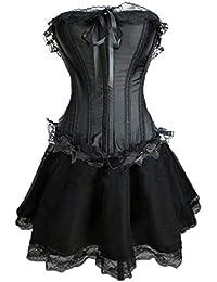 8c04738131 Per sempre giovane di alta qualità Burlesque Moulin Rouge ABITO FANTASIA  Costume Outfit Corsetto + Lunghezza ginocchio Gonna di raso…