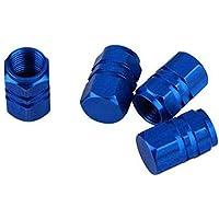 GOOTRADES 12Pcs Tapas para Válvulas de Aire Guardapolvo Tapones de Llantas Neumáticos para Coche Bici Moto (Azul)