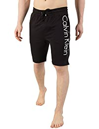 c2a45026c7c Calvin Klein Men Black Logo Print Cotton Loungewear Shorts