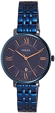 Fossil Jacqueline Women's Blue Dial Stainless Steel Analog Watch - ES