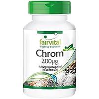 Chrom 200µg aus Chrompicolinat, Großpackung für 3 Monate - HOCHDOSIERT - VEGAN - 90 Tabletten preisvergleich bei billige-tabletten.eu
