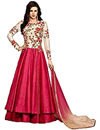 Smily Creation Women s Georgette Digital Printed Gown (White 97e1674be