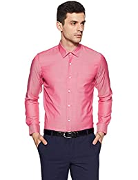 Peter England Men's Plain Slim Fit Formal Shirt