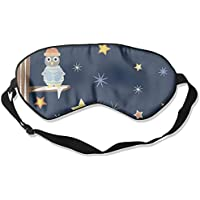 Comfortable Sleep Eyes Masks Owl Star Pattern Sleeping Mask For Travelling, Night Noon Nap, Mediation Or Yoga preisvergleich bei billige-tabletten.eu