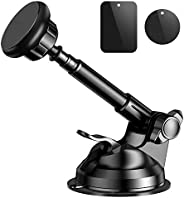 Magnetic Phone Car Mount, Universal Phone Holder for Car Dashboard, Windshield, Air Vent, One Hand Operation,