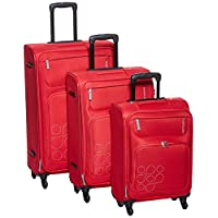 Kamiliant By American Tourister Himba Softside Spinner Luggage Set of 3, with Number Lock - Red