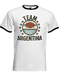 Team Argentina Rugby Mens Retro T-Shirt Camiseta Para Hombre Perfect for World Cup