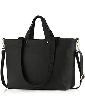 BONTHEE Canvas Handtasche Damen Gro?e Shopper Tasche