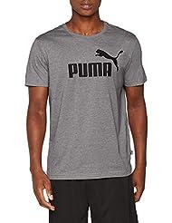 Puma Ess Logo Maglietta, Uomo, Grigio (Grey Heather), M