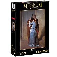 Clementoni 35027 - Puzzle Museum Collection Hayez - Il Bacio, 500 Pezzi