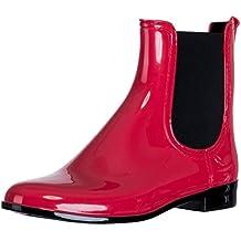 cedb47d859dc73 Suchergebnis auf Amazon.de für  rote stiefeletten - Gummi