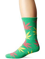 Huf Plantlife Crew green/pink/butter Calcetines