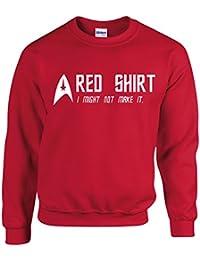 Red Shirt Funny Star Trek Inspired Men Top - Sweatshirt
