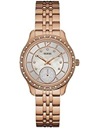 Guess Silver Dial Analog Women's Watch-W0931L3