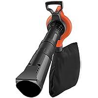 Black+Decker Laubsauger und Bläser GW3030 mit Häcksler, 50l Fangsack und Zweithandgriff / Variable Blasgeschwindigkeit bis 418km/h / 14 m³/Min Saugleistung / Rückenschonende Benutzung