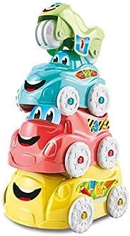 Clementoni- Rompecabezas Set 4 vehículos apilables, Multicolor (17111.8)