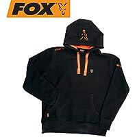 Fox Black/Orange à capuche Pull avec capuche, Angel, pêcheur Pull à capuche, noir/orange