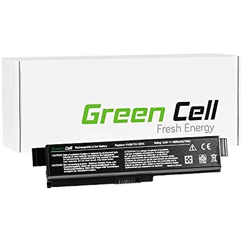 Green Cell® Extended Serie Portátil Batería para Toshiba Satellite C660D-A2K Ordenador (6600mAh)