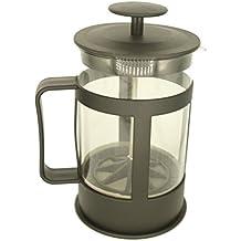Cafetera de émbolo con capacidad para 800 ml | Cafetera embolo | Cafetera de plástico, color negro | Cafetera express | Cafetera expreso manual