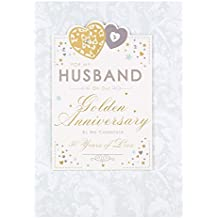 """Hallmark, biglietto per auguri di nozze d'oro """"For Husband"""", formato medio"""