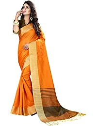 Kiranz Web Store Women's Cotton Silk Saree With Blouse Piece Silk Saree - Kirz Web Store (Yellow-saree)