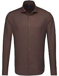 SEIDENSTICKER Herren Hemd Tailored 1/1-Arm Bügelleicht Uni / Uniähnlich City-Hemd Kent-Kragen Kombimanschette weitenverstellbar
