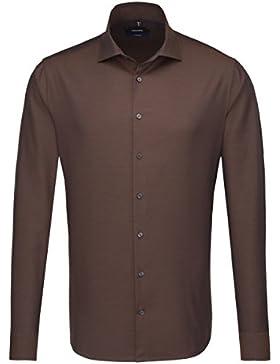 SEIDENSTICKER Herren Hemd Tailored 1/1-Arm Bügelleicht Uni / Uniähnlich City-Hemd Kent-Kragen Kombimanschette...