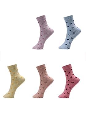Calcetines De Algodón Puro Para Hombre De Las Mujeres Calientes De Las Alas De Las Calientas Deportes 5 Pares