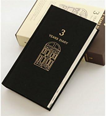 Exercice Journal de trois ans journal journal journal intime relié Carnets personnels et journaux papier livres pour l'école de bureau (noir) pour le bureau B07GBQLTLY | élégante  a074a6