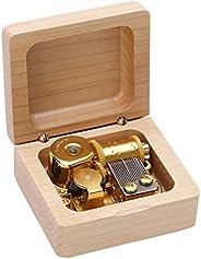 صندوق موسيقى عيد الميلاد من Adcool - صندوق موسيقى خشبي - هدية عيد ميلاد مبتكرة للصديقة للفتيات هدايا صغيرة (ال