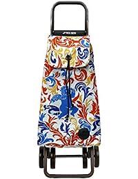 Rolser Pack G-TRES Logic Dos+2 - Carro plegable de 4 ruedas, color azul y rojo