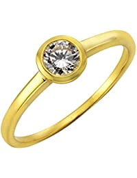 Fascination by Ellen K. Damen-Ring 8 Karat (333) Gelbgold Zirkonia weiß 170370181-052