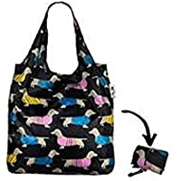 Re-Uz Lifestyle Shopper Foldable Reusable Shopping Grocery Bag - Sausage Dogs Summer