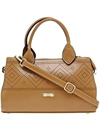 ESBEDA Beige Solid Pu Synthetic Material Arm Handbag For Women's