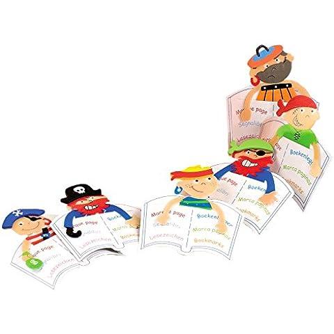 Mopec A2081 - Punto de libro en forma de pirata, pack de 12 unidades