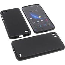 Funda para Doogee F3 Pro Funda protectora de goma TPU para móvil negra