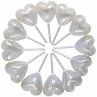 hugestore 50pcs 4ml Claro Forma De Corazón Plástico Pipetas de transferencia desechables cuentagotas para Laboratorio cosméticos